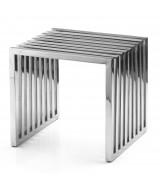 Dizajnový oceľový odkladací stolík