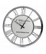 Luxusné nástenné románske hodiny z ocele