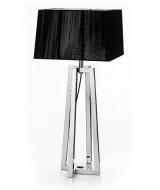 Stolová lampa z ocele hranatého dizajnu