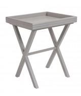Nočný stolík z dreva a  ratanovej kôry