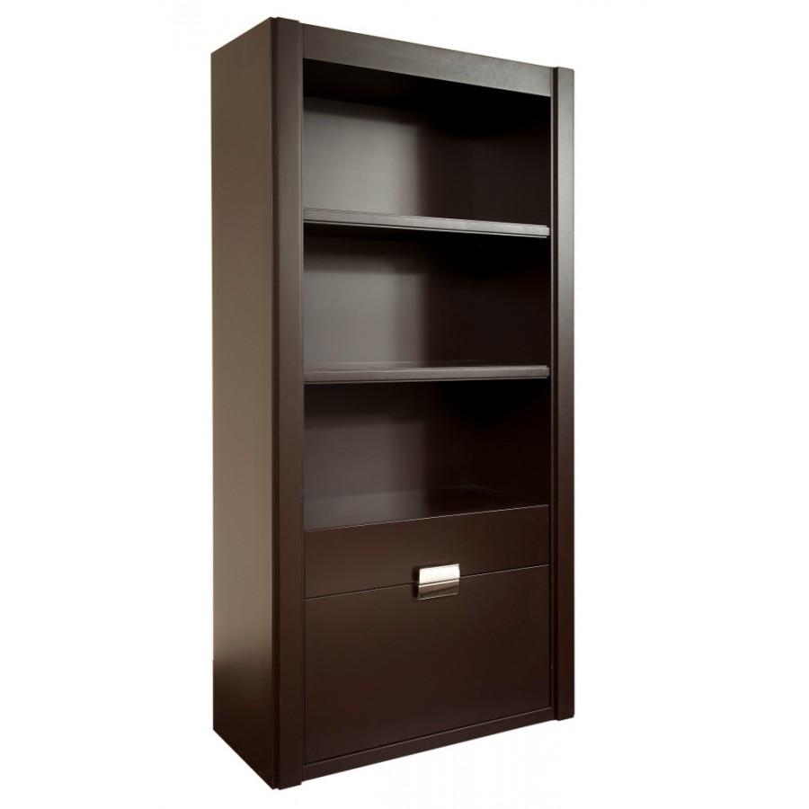 7fd144b5a508 Luxusná knižnica z dreva s dvoma zásuvkami