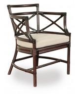 Luxusná stolička z ratanovej kôry s poduškou
