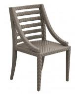 Jedálenská záhradná stolička z ratanu s lakťovými opierkami Deco