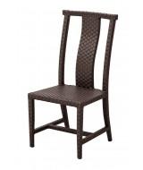 Orientálna ratanová jedálenská záhradná stolička Ming