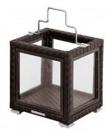 Malý ratanový orientálny záhradný lampáš Ming
