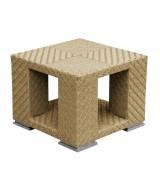 Luxusný ratanový stolík Tangram hranatého moderného dizajnu