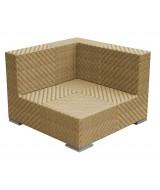 Ratanový rohový modul Tangram hranatého moderného dizajnu